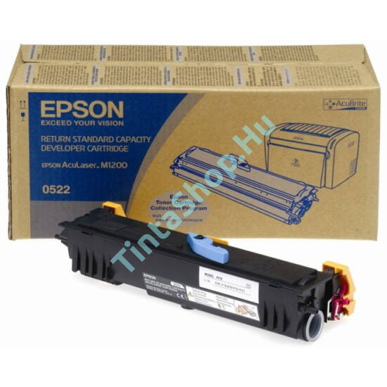 Epson S050522 (M1200) BK fekete (BK-Black) eredeti (gyári, új) toner