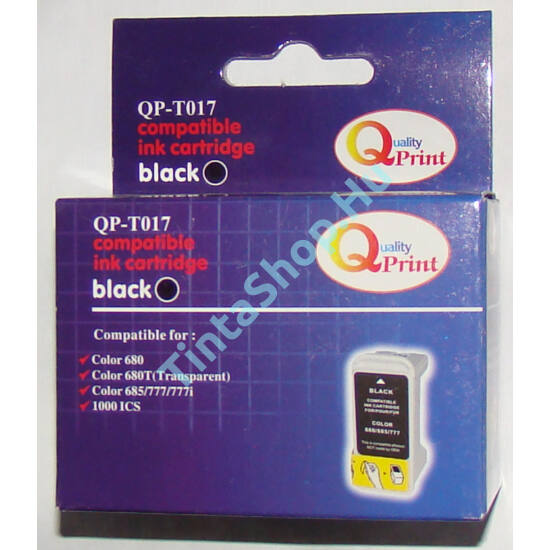 Epson T017 BK Fekete (BK-Black) kompatibilis (utángyártott) tintapatron