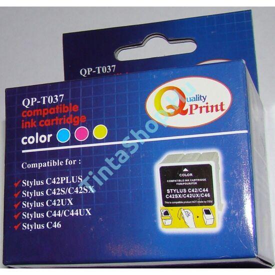 Epson T037 C színes (C-Color) kompatibilis (utángyártott) tintapatron