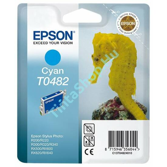 Epson T0482 CY cián (kék) (CY-Cyan) eredeti (gyári, új) tintapatron