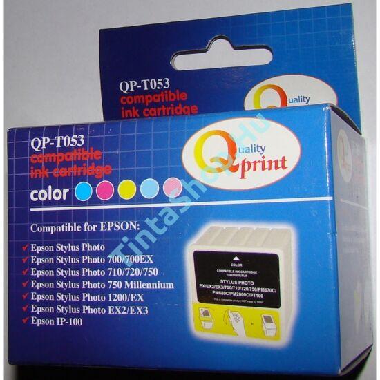 Epson T053 (110/193) C színes (C-Color) kompatibilis (utángyártott) tintapatron