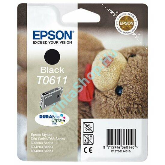 Epson T0611 BK fekete (BK-Black) eredeti (gyári, új) tintapatron