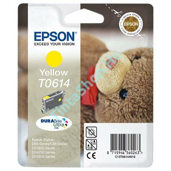 Epson T0614 YL sárga (YL-Yellow) eredeti (gyári, új) tintapatron