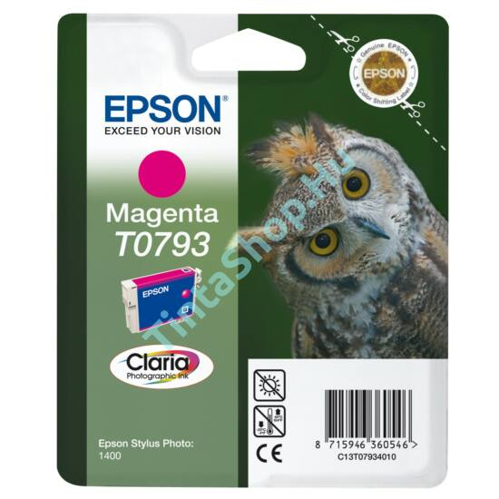 Epson T0793 MG bíbor (piros) (MG-Magenta) eredeti (gyári, új) tintapatron