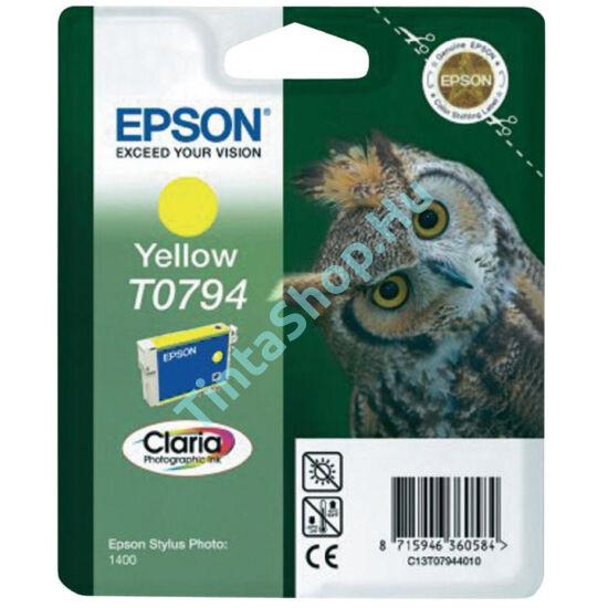 Epson T0794 YL sárga (YL-Yellow) eredeti (gyári, új) tintapatron