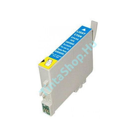 Epson T0795 LC v.cián (v.kék) (LC-Light Cyan) kompatibilis (utángyártott) tintapatron