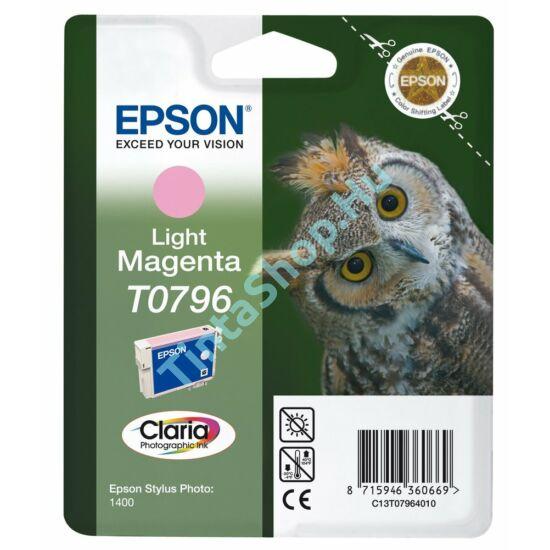 Epson T0796 LM v.bíbor (v.piros) (LM-Light Magenta) eredeti (gyári, új) tintapatron