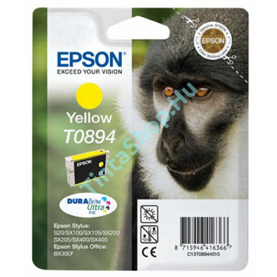 Epson T0894 YL sárga (YL-Yellow) eredeti (gyári, új) tintapatron