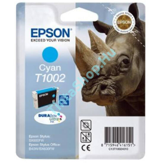 Epson T1002 CY cián (kék) (CY-Cyan) eredeti (gyári, új) tintapatron