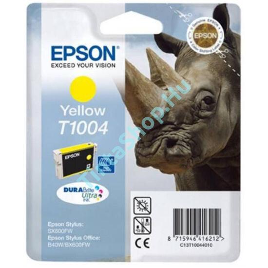 Epson T1004 YL sárga (YL-Yellow) eredeti (gyári, új) tintapatron