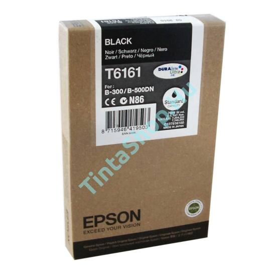 Epson T616100 BK fekete (BK-Black) eredeti (gyári, új) tintapatron