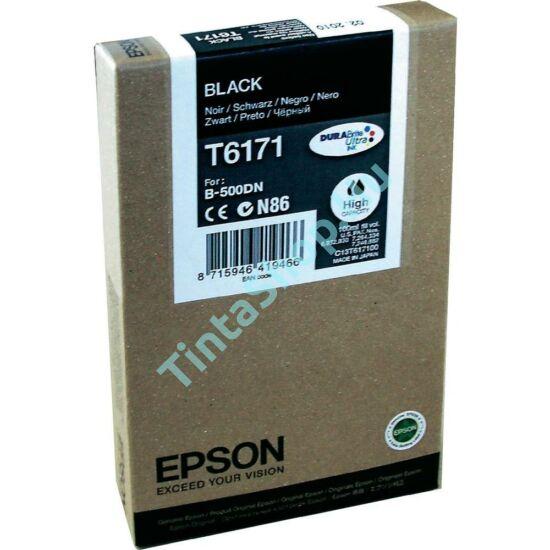 Epson T617100 BK fekete (BK-Black) nagy kapacitású eredeti (gyári, új) tintapatron
