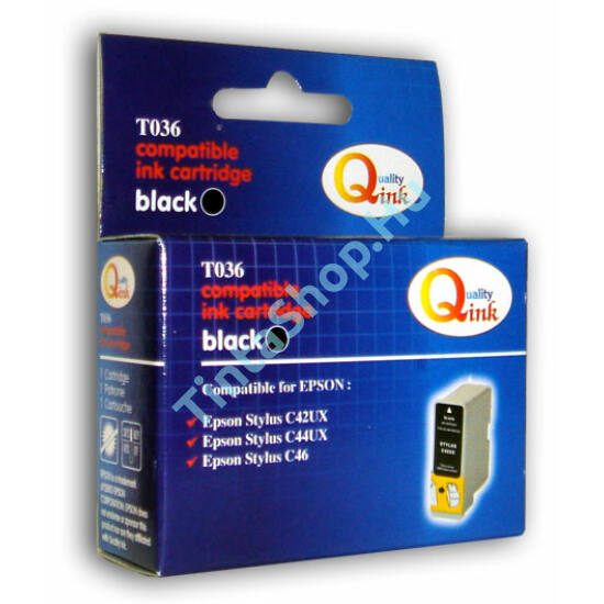 Epson T036 BK fekete (BK-Black) kompatibilis (utángyártott) tintapatron