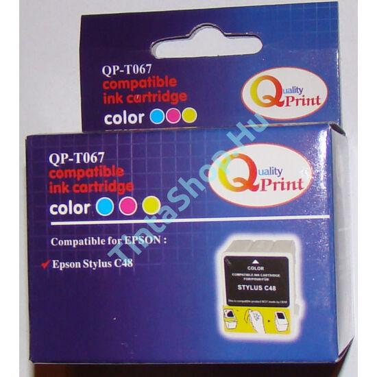 Epson T067 C színes (C-Color) kompatibilis (utángyártott) tintapatron