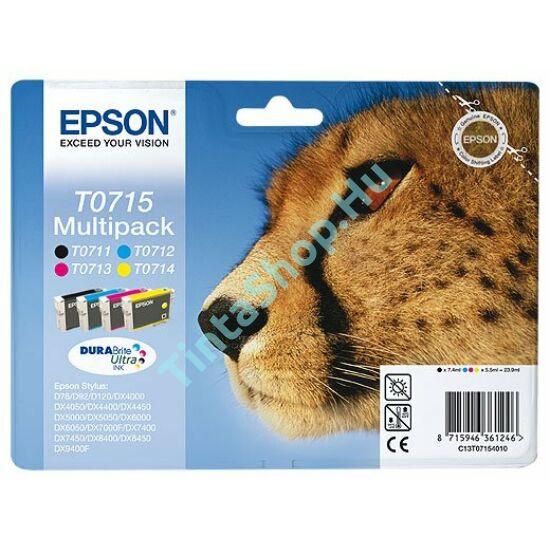 Epson T0715 BCMY Multipack eredeti (gyári, új) tintapatron