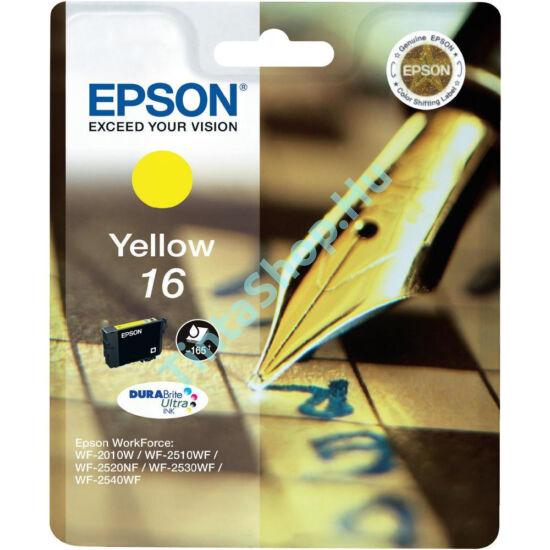 Epson T1624 (No.16) YL sárga (YL-Yellow) eredeti (gyári, új) tintapatron