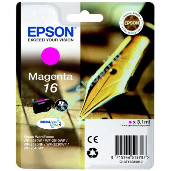 Epson T1633 (No.16 XL) MG bíbor (piros) (MG-Magenta) nagy kapacitású eredeti (gyári, új) tintapatron