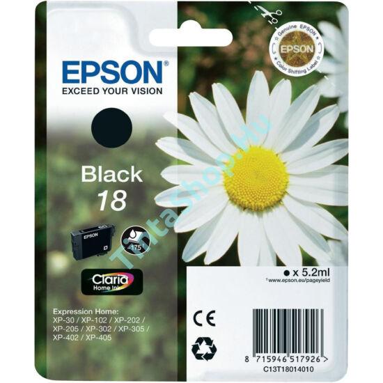 Epson T1801 (No.18) BK fekete (BK-Black) eredeti (gyári, új) tintapatron
