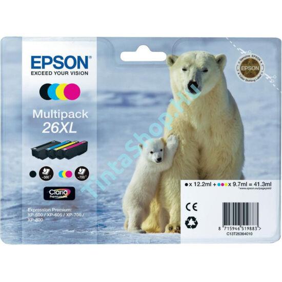 Epson T2636 (No.26 XL) Multipack eredeti (gyári, új) tintapatron