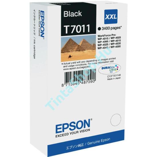 Epson T7011 BK XXL fekete (BK-Black) nagy kapacitású eredeti (gyári, új) tintapatron