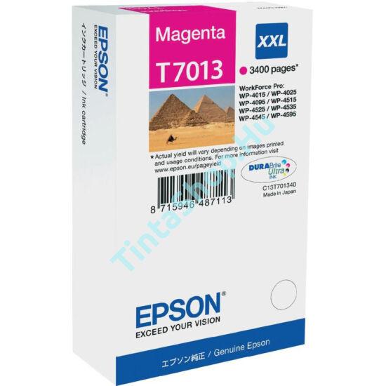 Epson T7013 MG XXL bíbor (piros) (MG-Magenta) nagy kapacitású eredeti (gyári, új) tintapatron
