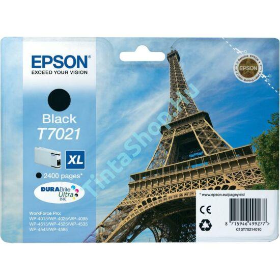 Epson T7021 BK XL fekete (BK-Black) nagy kapacitású eredeti (gyári, új) tintapatron