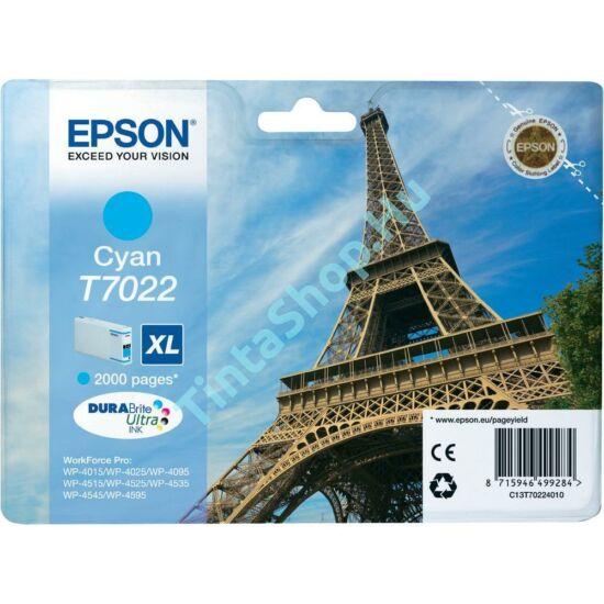 Epson T7022 CY XL cián (kék) (CY-Cyan) nagy kapacitású eredeti (gyári, új) tintapatron