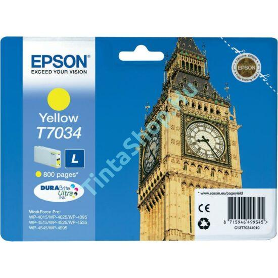 Epson T7034 YL sárga (YL-Yellow) eredeti (gyári, új) tintapatron