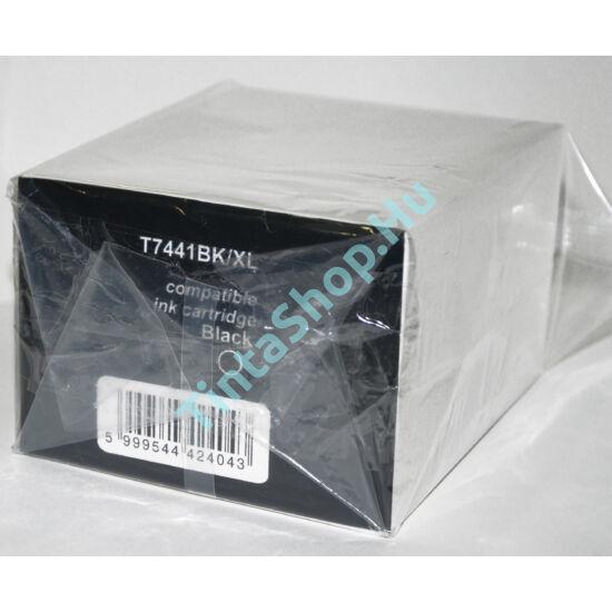 Epson T7441 BK XL fekete (BK-Black) nagy kapacitású kompatibilis (utángyártott) tintapatron