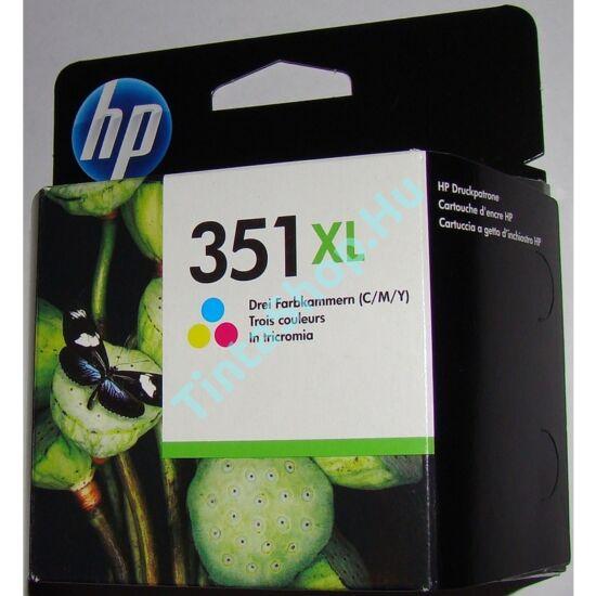 HP CB338E (No.351) XL C színes (C-Color) nagy kapacitású eredeti (gyári, új) tintapatron