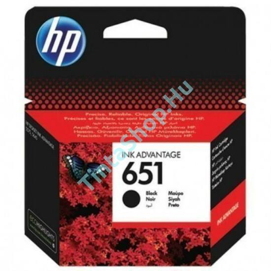 HP C2P10AE (No.651) BK fekete (BK-Black) eredeti (gyári, új) tintapatron
