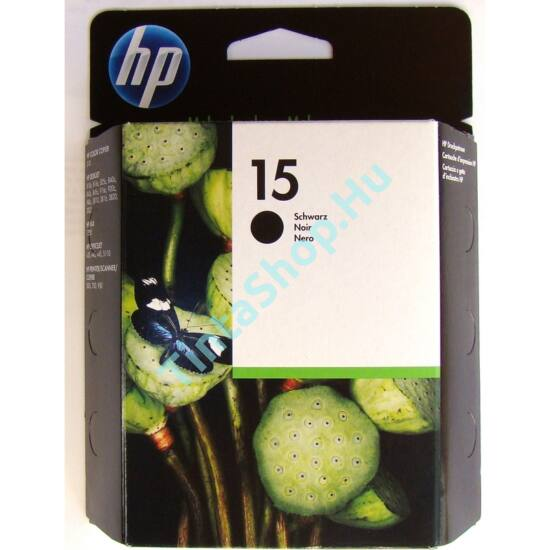 HP C6615D (No.15) fekete (BK-Black) eredeti (gyári, új) tintapatron