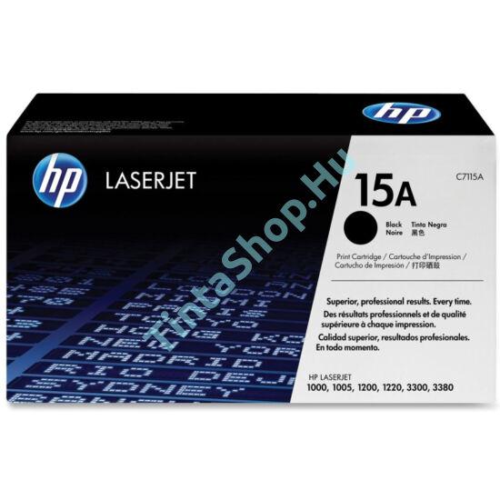 HP C7115A (No.15A) fekete (BK-Black) eredeti (gyári, új) toner