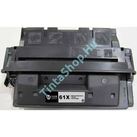 HP C8061X (No.61X) BK fekete (BK-Black) nagy kapacitású kompatibilis (utángyártott) toner