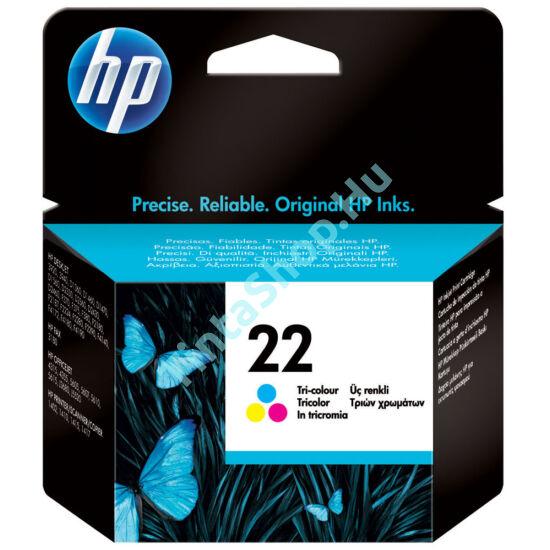 HP C9352A (No.22) színes (C-Color) eredeti (gyári, új) tintapatron