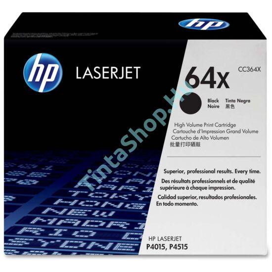 HP CC364X (No.64X) BK fekete (BK-Black) nagy kapacitású eredeti (gyári, új) toner