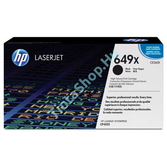 HP CE260X (No.649X) BK fekete (BK-Black) nagy kapacitású eredeti (gyári, új) toner