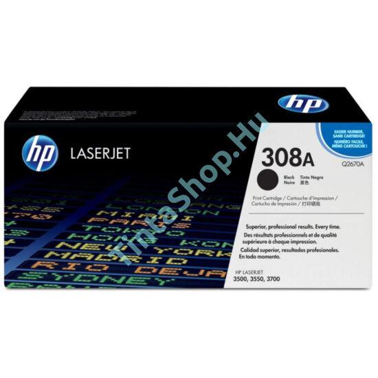 HP Q2670A (No.308A) BK fekete (BK-Black) eredeti (gyári, új) toner
