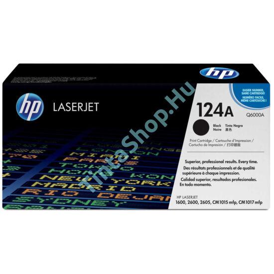 HP Q6000A (No.124A) BK fekete (BK-Black) eredeti (gyári, új) toner
