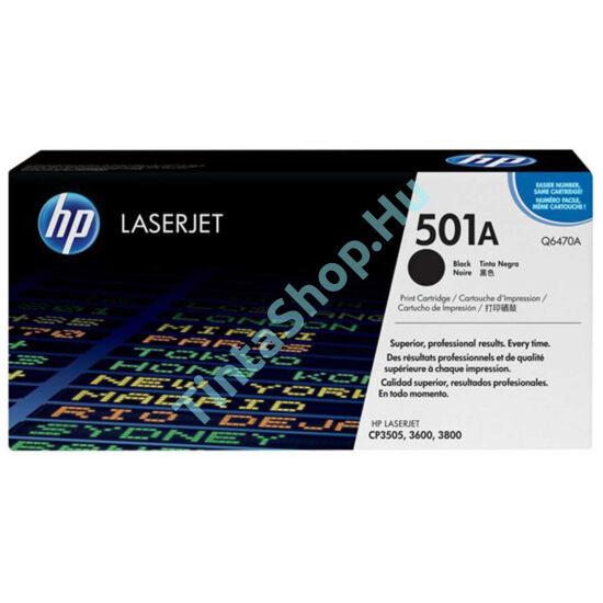 HP Q6470A (No.501A) BK fekete (BK-Black) eredeti (gyári, új) toner