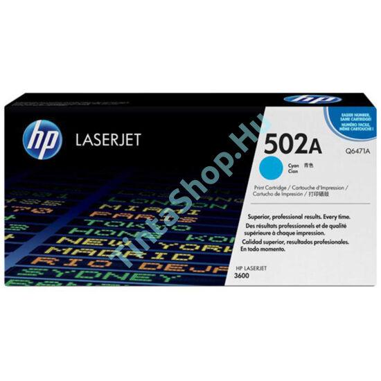 HP Q6471A (No.502A) CY cián (kék) (CY-Cyan) eredeti (gyári, új) toner