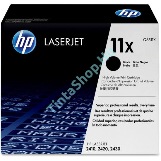 HP Q6511X (No.11X) BK fekete (BK-Black) nagy kapacitású eredeti (gyári, új) toner