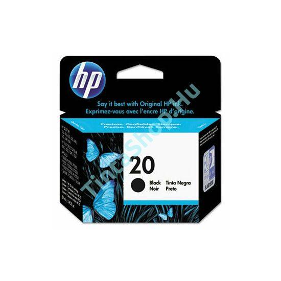 HP C6614D (No.20) BK fekete (BK-Black) eredeti (gyári, új) tintapatron