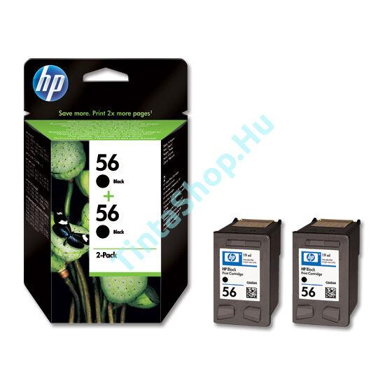 HP C9502 (No.56 DUPLA) BK fekete (BK-Black) eredeti (gyári, új) tintapatron