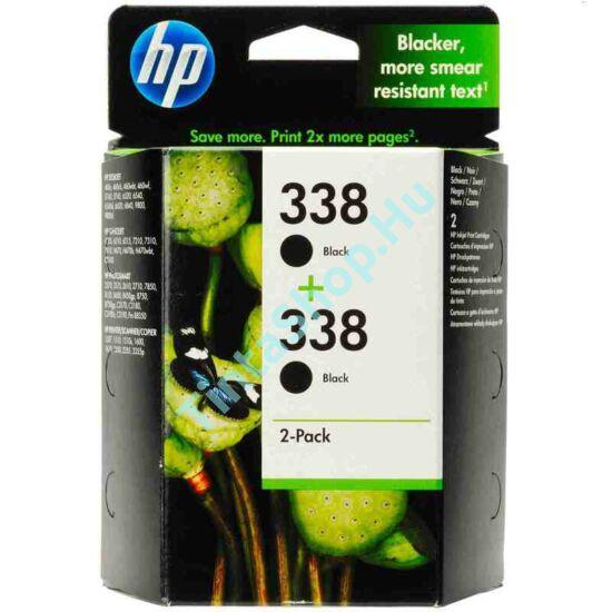 HP CB331E/C8765E (No.338 DUPLA) BK fekete (BK-Black) eredeti (gyári, új) tintapatron