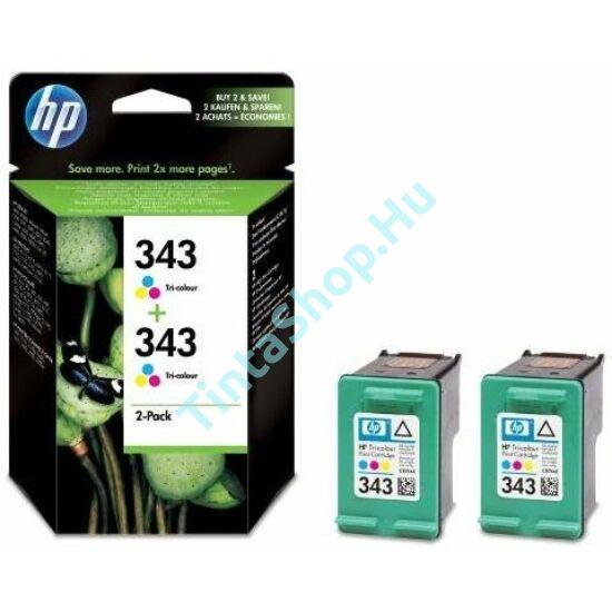 HP CB332E/C8766E (No.343 DUPLA) C színes (C-Color) eredeti (gyári, új) tintapatron