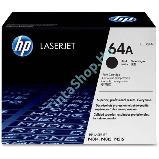 HP CC364A (No.64A) BK fekete (BK-Black) eredeti (gyári, új) toner