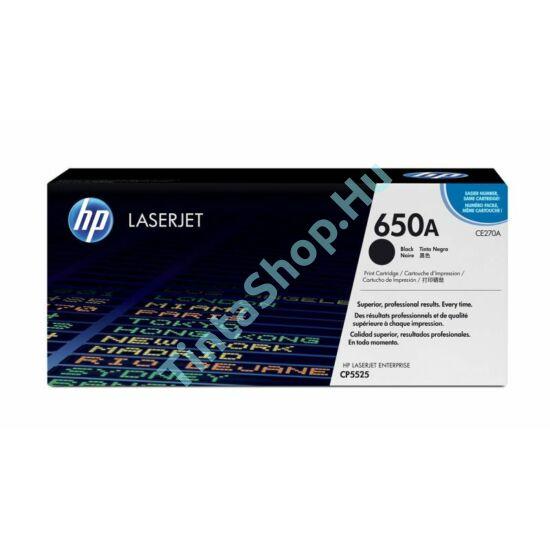 HP CE270A (No.650A) BK fekete (BK-Black) eredeti (gyári, új) toner