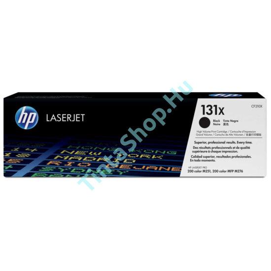 HP CF210X (No.131X) BK fekete (BK-Black) nagy kapacitású eredeti (gyári, új) toner