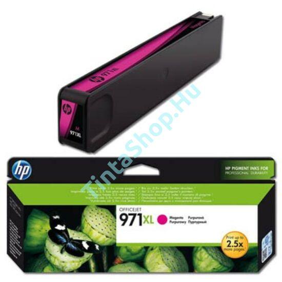HP CN627AE (No.971 XL) MG bíbor (piros) (MG-Magenta) nagy kapacitású eredeti (gyári, új) tintapatron
